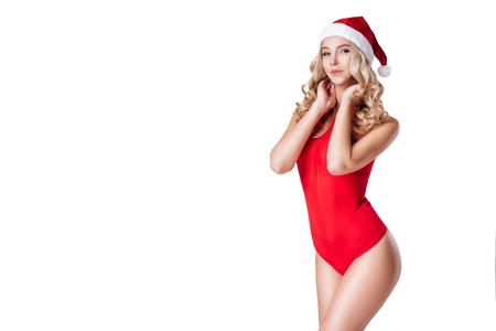 Attractive Santa girl Stock Photo