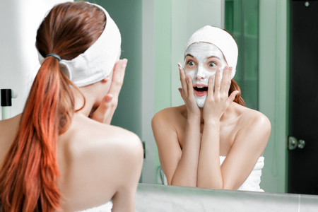 woman with a mask on her face