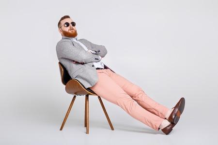 beard man in suit