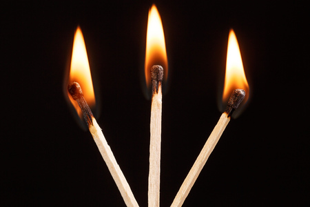 match with the flame isolated Stock Photo