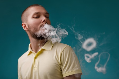 vaping man launches ring of the smoke