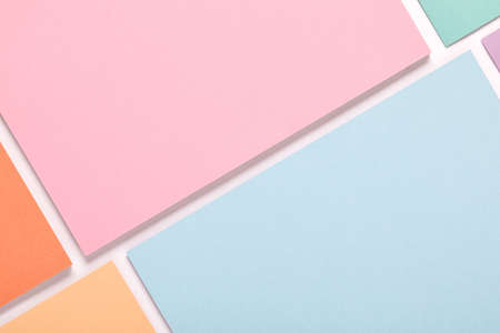 colored paper texture minimalism background. geometric shapes and lines