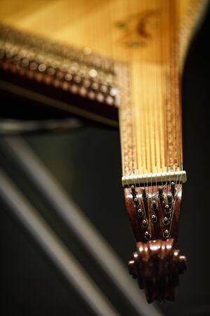 Bandura close up, Ukrainian musical instrument. Ukrainian folk musical instrument Stok Fotoğraf - 130693345