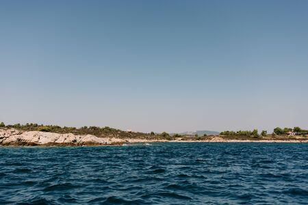beautiful scenery by the sea in Sithonia, Chalkidiki, Greece