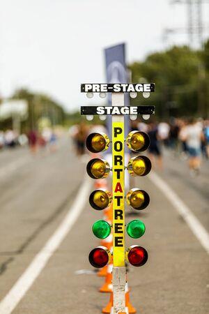 Semaforo per drag racing. sistema di avviamento in drag racing