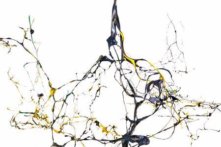 splash de couleur abstraite ou explosion de peintures colorées isolées sur fond blanc