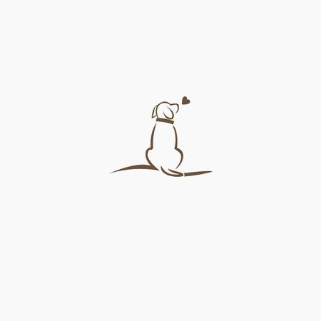 Vector logo design template for pet shops,Vector logo template with dog. logo illustration. Logo