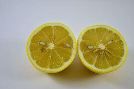 half  cut: half cut lemons Stock Photo