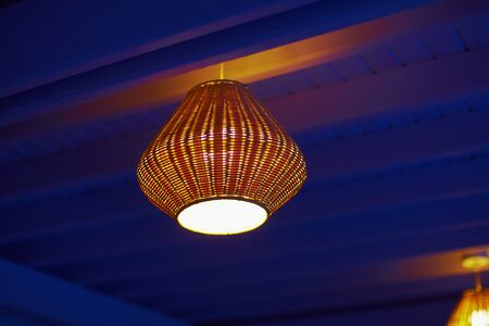 Vintage lampshade at evening