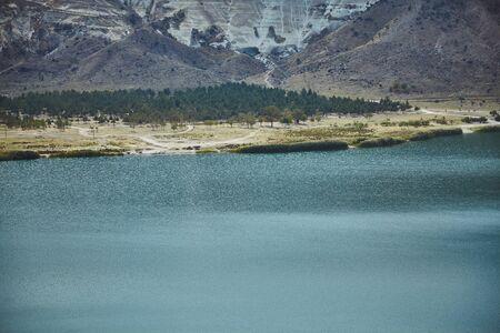 Place known as Narli Gol - voclanic lake at Cappadocia, Turkey 版權商用圖片