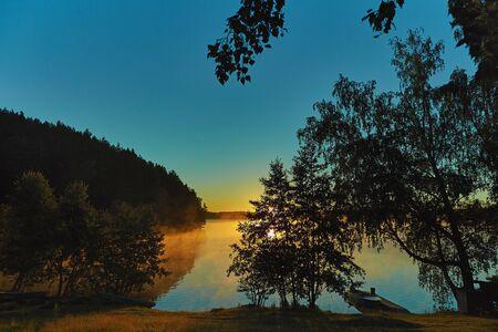 Morning fog at north lake