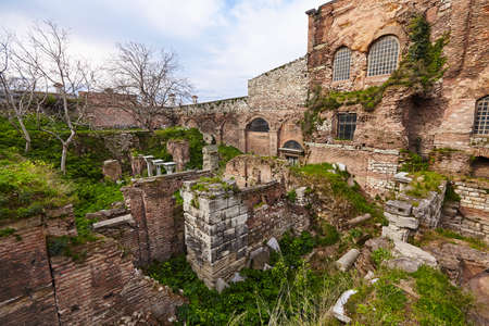 Hagia Sophia from uncommon side - back side archaeology work ?r??