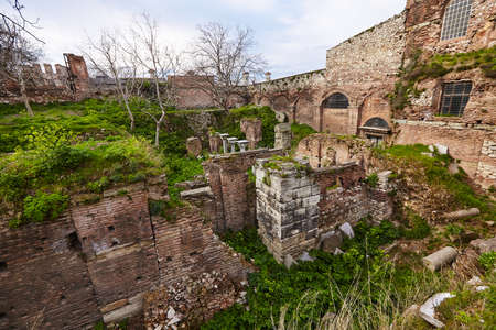 Hagia Sophia from uncommon side - back side archaeology work аrеа