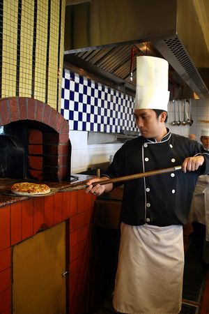 chef with pizza Stock Photo - 2197016