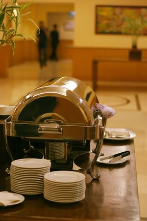 chafing dish: chafing dish for coffebreak