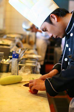 chef cocinando: chef de cocina