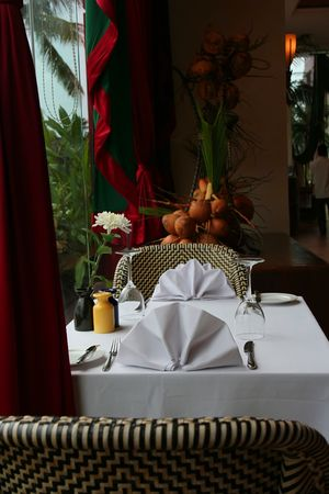 resturant: resturant table