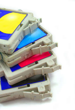 inkjet: used inkjet printer cartridge Stock Photo