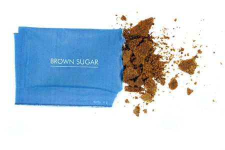 sachets: brown sugar in sachet