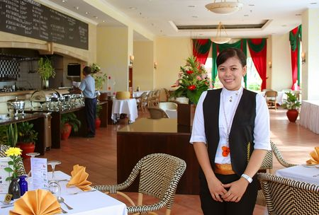 hotel staff: Restaurant staff at work
