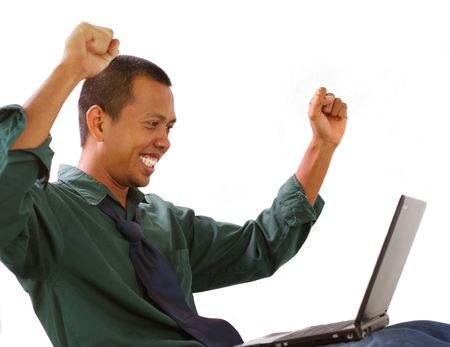 accomplish: happy with his accomplish