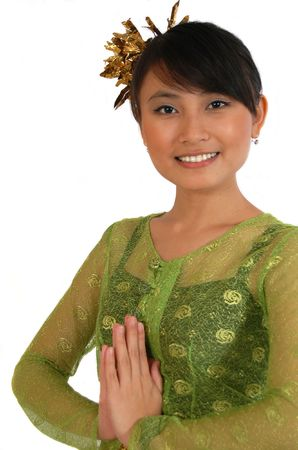traditional dress from java Stock Photo