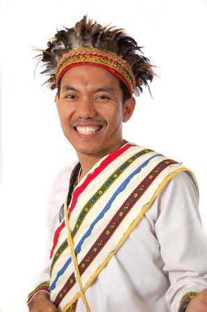 celebes: traditional dress from Toraja Indonesia