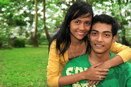 parejas de amor: pares asi�ticos Foto de archivo