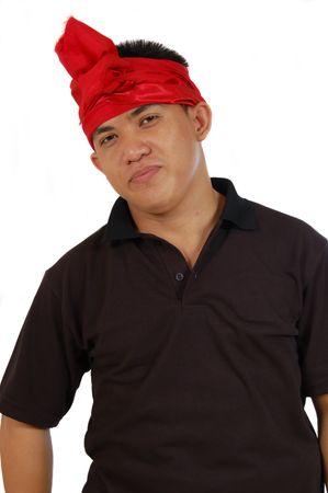 costum: man with balinese costum