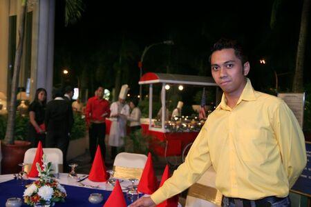 outdoor buffet dinner photo