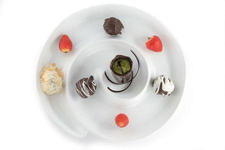 praline: praline cakes Stock Photo