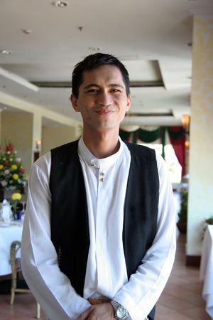 waiter at restaurant photo