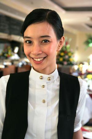 restaurant staff or waitress at work photo