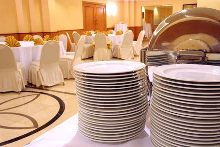 plate at banquet
