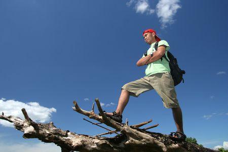 hiking backpacker Stock Photo - 3231596