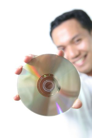 Man with optical disc storage Stock Photo - 3331851