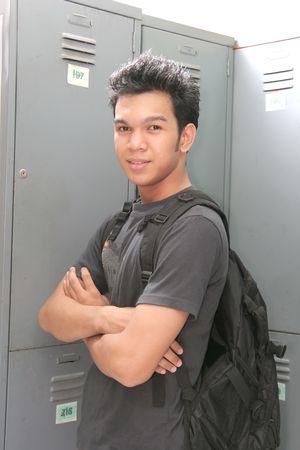 young man Locker Room photo