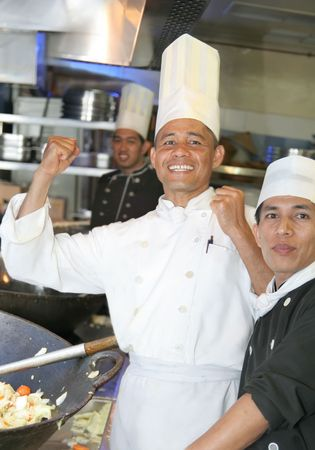enthusiasm chef at work photo