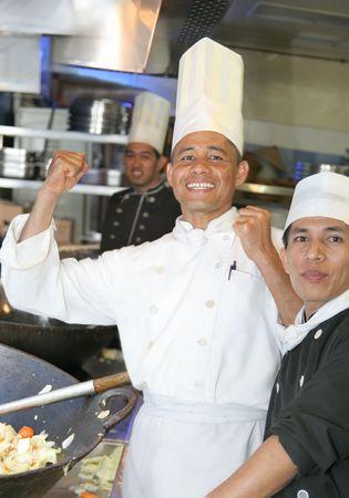 enthusiasm: enthusiasm chef at work