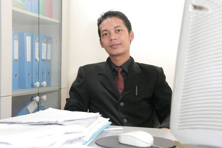 business man in office photo