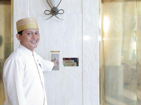 de botones o conserje del hotel Foto de archivo - 5228216