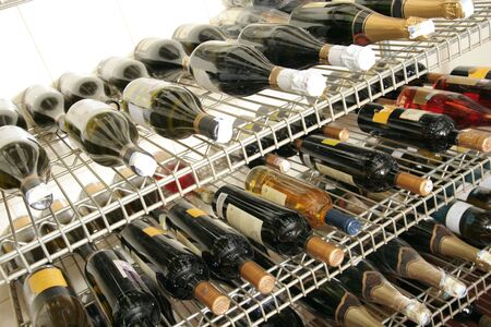 bar ware: wine in the storage Stock Photo