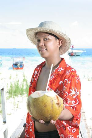 pleasure craft: tropical island vacation