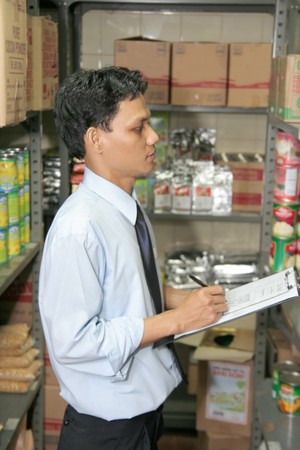 store keeper at work Stock Photo