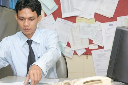 working in office photo