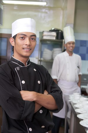 asian cook: chef