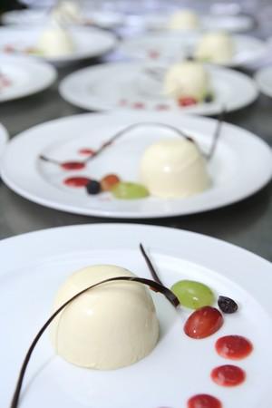 named: Dessert food named panacota cake