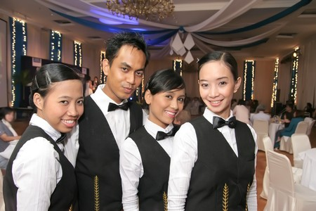 waiter in dinner photo