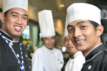 hospitality industry: chef team