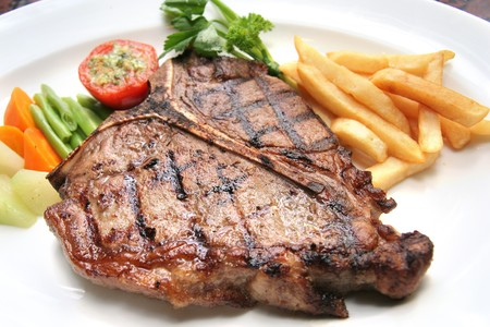steak plate: t-bone steak